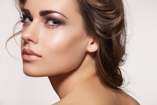 Woman after Make Up Treatments